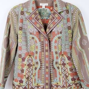 COLDWATER CREEK - Embroidered Boho Style Blazer